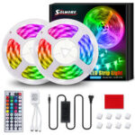 New              SOLMORE 10M 32.8FT LED Strip Light SMD5050 RGB IP65 Waterproof Rope Flexible Tape Lamp Kit with 44Keys IR Remote Controller