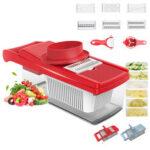 New              8 In 1 Food Cutter Veggie Chopper Peeler Vegetable Fruit Salad Shredder Slicer