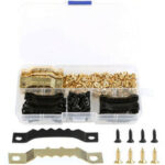 New              120 Set Sawtooth Picture Hanger with Screws Photo Frame Hanging Hooks with Compartment Box