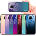 New              Bakeey for Xiaomi Redmi Note 9 Case Gradient Color Tempered Glass Shockproof Scratch Resistant Protective Case