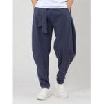 New              Mens Vintage 100% Cotton Drawstring Elastic Waist Button Fit Comfy Casual Pants