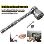 "New              3/8"" Multifunctional Ratchet Quick Wrench Head Universal Socket Magic Wrench"
