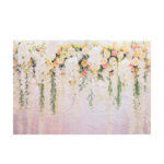 New              7x5FT Rose Wedding Flowers Wall Backdrop Photography Prop Photo Background