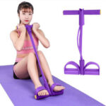 New              Sit-up Pull Rope Resistance Loop Exercise Tools Bands with Handles Elastic Rubber Puller Fitness Equipment for Home Working Out Stretching