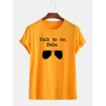 New              Mens Funny Sunglasses Slogan Little Tag Short Sleeve Breathable T-shirts