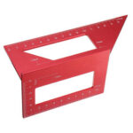 New              Aluminum Alloy Woodworking Scriber T Ruler Square Multifunctional 45/90 Degree Angle Ruler Angle Protractor Gauge