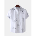 New              Mens Fashion Abstract Soft Breathable Fit Comfy Casual Shirts