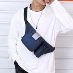 New              Men Casual Bottle Solid Bum Bag Sling Bag Shoulder Bag Chest Bag Waist Bag
