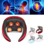 New              Multifunctional 4D Massager With Remote Control Electric Wireless TENS Pulse Hot Compress Neck Protector