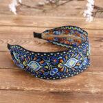 New              Bohemian Embroidery Woven Headband Ethnic Printed Fabric Headband Beach Holiday Headpieces