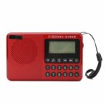 New              Portable FM AM SW 21 Bands DSP Digital Radio USB TF Card MP3 Music Player Speaker With Telescopic Antenna