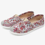 New              Women Soft Pattern Cloth Slip On Flat Loafers