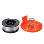 New              1+2 30ft Trimmer Line Replacement String Trimmer Spool Cap Cover Spring For Black and Decker String Trimmers