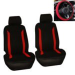 New              5 PCS Universal Car Double Front Seat Cover Steering Wheel Cover