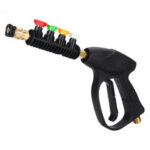 New              Universal Car High Pressure Power Washer Trigger 300 bar/3000PSI With 5 Color Nozzles Tips Cleaning