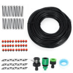 New              25M Automatic Drip Irrigation Plant Watering Kit Mist Cooling Irrigation System for Garden Greenhouse