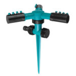New              Garden Sprinkler 360° Rotating Adjustable 3 Arms Lawn Gardening Watering System