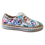 New              Women Folkways Printing Comfy Non Slip Casual Chunky Flats Shoes