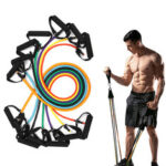 New              1Pc 10/15/20/25/30/35/40lbs Resistance Bands Fitness Muscle Training Exercise Bands