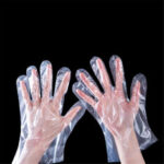 New              100pcs Food Grade Disposable Gloves Transparent Plastic Food Prep Safe Gloves for Cooking Kitchen BBQ Cleaning