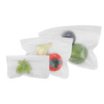 New              Food Storage Bags Reusable Silicone Containers for Lunch Vegetable Resealable Kitchen Storage Bag