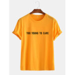 New              Mens Funny Cotton Slogan Little Tag Short Sleeve Casual T-Shirts