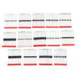 New              200pcs Fast Switching Schottky Diode Assorted Kit 1N4001 1N4004 1N4007 1N5408 UF4007 FR207 1N5817 1N5819 1N5822 1N4148 RL207