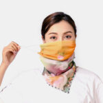 New              Women Breathable Printing Masks Ear-mounted Neck Protection Sunscreen Scarf Anti-UV Bandana