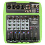 New              WENYANWEN Mini 4 Channel 16 DSP Effect USB Delay and Repeat Efferts Audio Mixer Console With Channel Volume Contrl