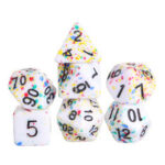New              7Pcs Acrylic Polyhedral Dice Set Colorful Board Game Multisided Dices Gadget