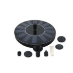 New              3.7-12V 55cm Solar Floating Water Fountain With 7Pcs Nozzles Bird Bath Small Pond Swimming Pool Garden Fish Tank Oxygen Water Circulation Solar Decoration