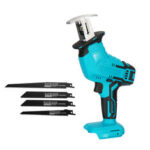 New              18V Cordless Handheld Electric Reciprocating Saw 0-3000rpm/min Electric Saber Saw With 4 Pcs Saw Blades Adapted To Makita Battery