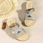 New              Women Bohemia Weave Cut-out Casual Comfy Wearable Wedges Sandals