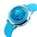 New              SKMEI 1100 Fashion Sport Children Watch Date Week Display 7-Colors EL Light 5ATM Waterproof Kids Digital Watch