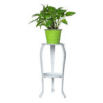 New              2 Tier Plant Stand Ceramic Planter Pot Succulent Flower Iron Rack Holder