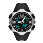 New              SANDA 799 Fashion 12/24 hours Stopwatch Timing Luminous Display Waterproof Men Dual Display Digital Watch