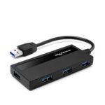 New              Rocketek USB 3.0 hub 4 port adapter splitter Power Interface for PC  Laptop