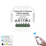 New              MoesHouse 2 Gang DIY WiFi Smart 2 Way Light LED Dimmer Module Switch Smart Life/Tuya APP Remote Control Work with Alexa Google Home