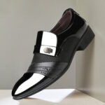 New              Men Microfiber Business Soft Formal Dress Shoes