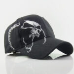 New              Distressed Skull Baseball Cap Washed Full Hat Embroidery Hats