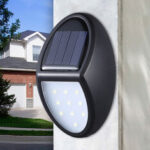 New              10LED Solar Power Wall Light Waterproof Outdoor Garden Yard Lamp Pathway