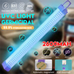 New              Portable 2600mAh 5V USB UV Ultraviolet Light Tube Disinfection Handheld UVC Lamp