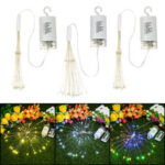 New              Hanging LED Firework Fairy String Light 8Modes Remote Home Party Wedding Decor