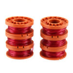 New              6Pcs 10ft 0.065 Inch Grass String Trimmer Spool Replacement for Worx WG180 WG163 WA0010 Weed Wacker Eater String Grass Trimmer Refills