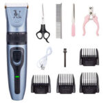 New              C-350 Rechargeable Pet Dog Cat Grooming Clippers Hair Trimmer Groomer Shaver Quiet Clipper