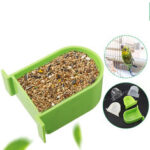 New              Bird Cage Food Box Trough Feeder Bowl Semi-circular Birds Home Accessories For Pet Supplies