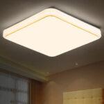 New              AC85V-265V 12W 24W Square LED Ceiling Light Chandeliers Flush Mount Lamp for Home Living Room