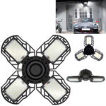 New              E27 30W 45W 60W LED Garage Light Bulb Deformable Ceiling Fixture Foldable Workshop Lamp AC85-265V