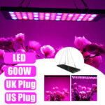 New              600W LED Grow Light Hydroponic Full Spectrum Indoor Plant Veg Flower Panel Lamp AC85-265V