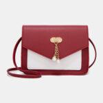 New              Women Patchwork Phone Bag Mini Crossbody Bag Shoulder Bag